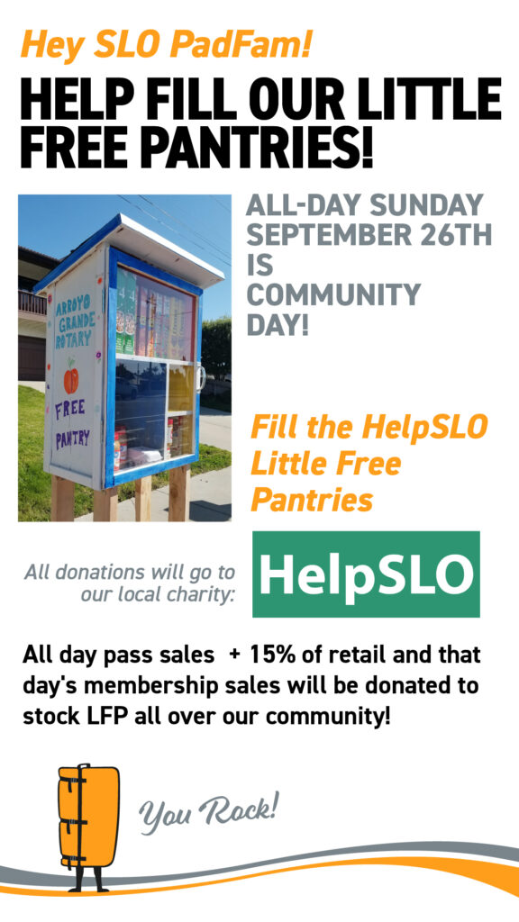 Image of a San Luis Obispo county little free pantry and information contained in the text in the image.
